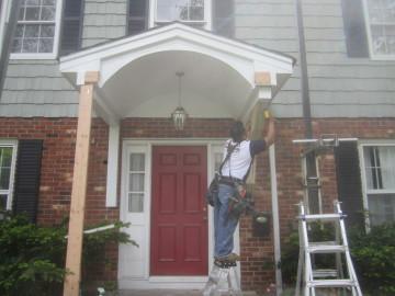 New Jersey front door entry way portico installation in NJ
