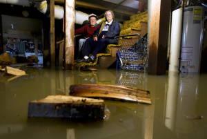 flooded basment nj sandy storm waterproofing